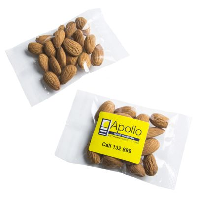 CC050X25B Raw Almonds Filled Logo Lolly Bags - 25g