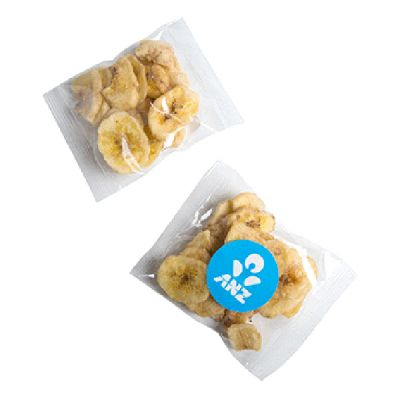 CC050Z25 Banana Chips Filled Branded Lolly Bags - 25g