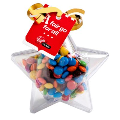 CC054B2 M&M Filled Branded Stars With Tag Attached - 50g