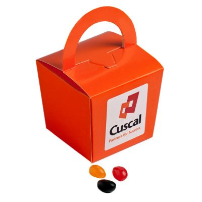 CC056A Jelly Bean (Mixed Or Corporate Colours) Filled Coloured Branded Noodle Boxes -100