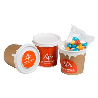 CC064D1 Skittles Look-Alike Filled Logo Coffee Cups With Moon Or Lid Sticker - 50g