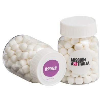 CC066B Baby Mint Filled Corporate Pill Jars - 50g