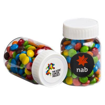 CC066D Mini M&M Filled Branded Pill Jars - 45g
