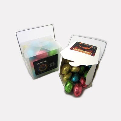 CCE008A Easter Egg Filled White Custom Noodle Boxes - 12 x 100g