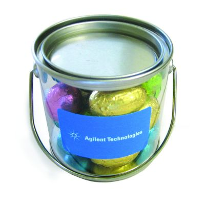 CCE015 Small Corporate Buckets Filled With Easter Eggs - 16 x 130g