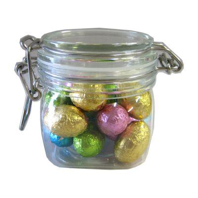 CCE017 Small Custom Canisters Filled With Easter Eggs - 16 x 130g