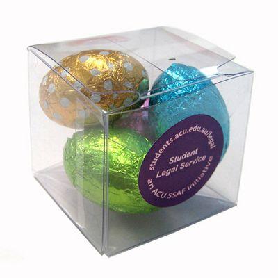 CCE018 Mini Easter Egg Filled Soft Branded Cubes - 4 x 30g