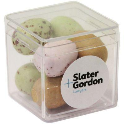 CCE024 Mini Easter Egg Filled Hard Branded Cubes - 8 x 25g