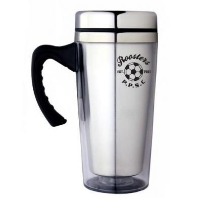 M05 350ml Ergo Custom Plastic Travel Mugs With Stainless Steel Inner Wall