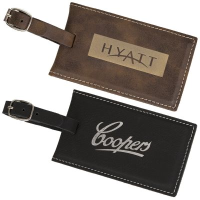 EX102 Adjustable Metal Buckle Strap Branded Luggage Tags