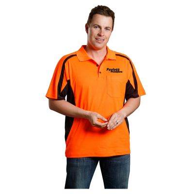 SW25 Mens TrueDry Short Sleeve Safety Logo Hi Vis Polo Shirts