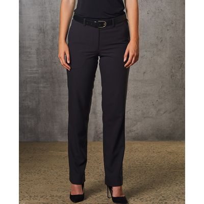 M9440 Ladies Poly/Viscose Corporate Corporate Slacks With Stretch & Adjustable Waist