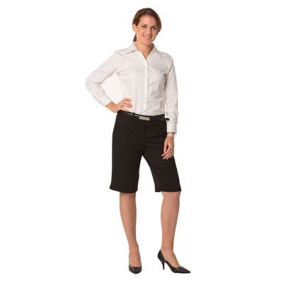 M9441 Poly/Viscose Embroidered Fashion Shorts With Stretch & Adjustable Waist - Benchmark Range