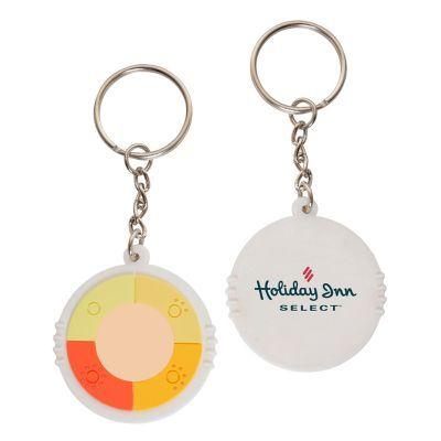 NP131 Novelty UV Reactive Printed Plastic Key Tags