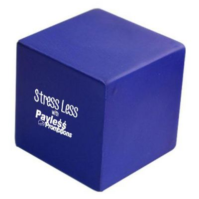 S24 Cubic Blue Printed Shapes Stress Balls