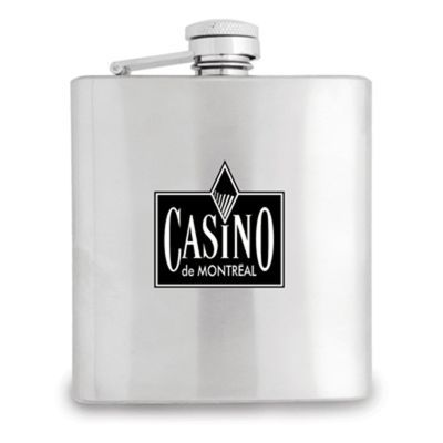 S181 Stainless Steel n/a Whiskey Flasks With Hinged Screw On Top - 180ml