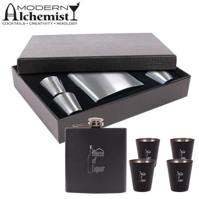 S-202 Craignure Engraved Whiskey Flasks Set