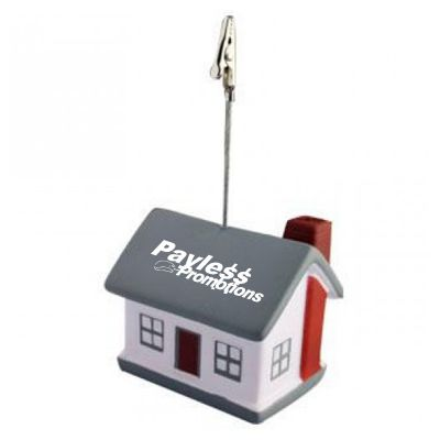 S128 House Note Holder Printed Note Holder Stress Balls