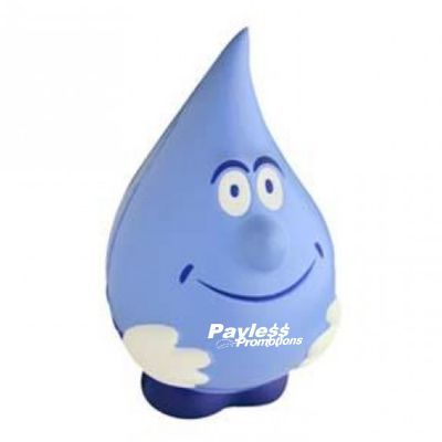 S155 Water Drop Personalised Eco Friendly Stress Shapes