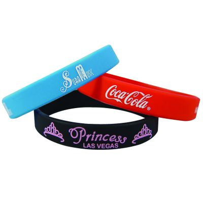 SW101 Solid Colour Customised Silicon Wristbands