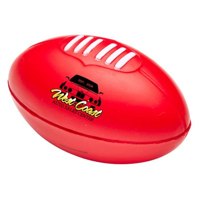 T775 Rugby Ball Shaped Printed Sports Stress Balls