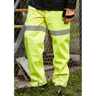 ZP902 Arc Rated Waterproof Branded Hi Vis Pants With Reflective Tape