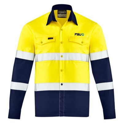 ZW520 Lightweight Bio Motion Embroidered Workwear Shirts With Reflective Tape