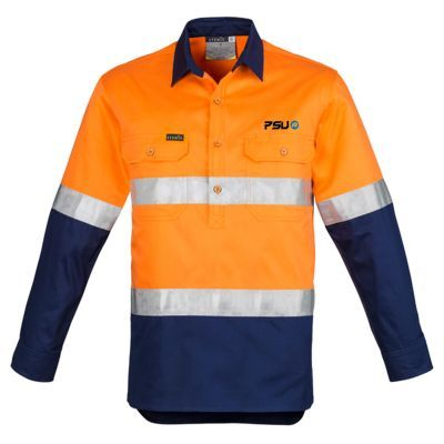 ZW550 Cotton Twill Branded High Vis Shirts With Hoop Reflective Tape