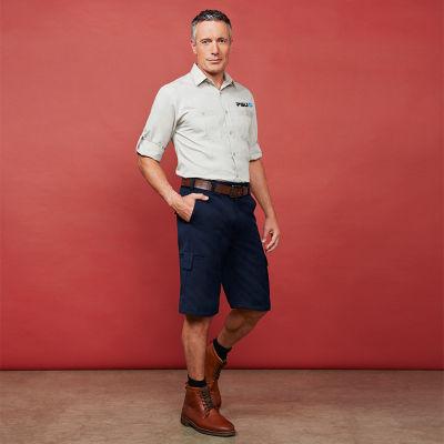 BS10112S Detroit Uniform Fashion Shorts - Stout