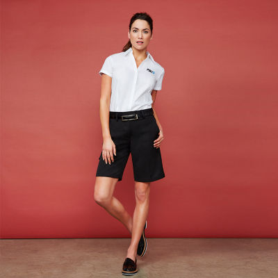 BS10322 Ladies Detroit Embroidered Fashion Shorts