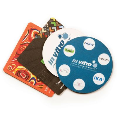 C1B Natural Rubber Base Promotional Coasters (Square or Round)