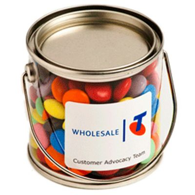 CC003B2 Smarties Look-Alike Filled Small Corporate Buckets - 2 x 50g