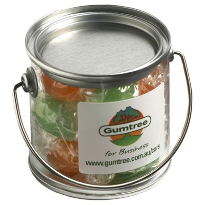 CC003G Twist Wrapped Boiled-Lollies Filled Small Branded Buckets - 120g
