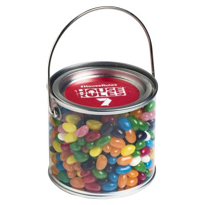 CC004A Jelly Beans (Mixed Or Corporate Colours) Filled Medium Custom Buckets - 400g