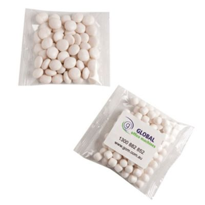 CC035C1 Chewy Mint Filled Branded Lolly Bags - 7g