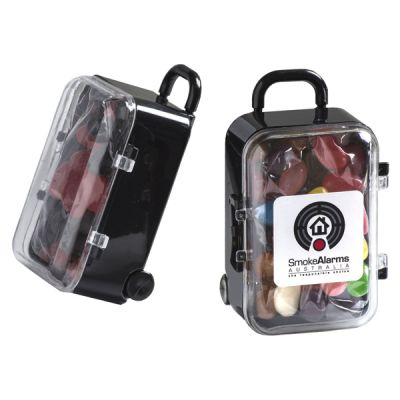 CC070A Jelly Bean Filled Branded Mini Suitcases - 50g