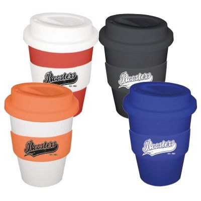 CC350SS 350ml Custom Travel Coffee Cups With Soft Silicon Lid