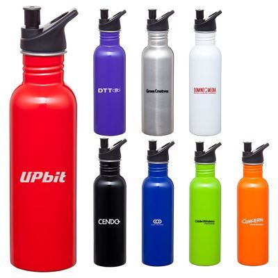 D534 Carnival Business Metal Drink Bottles With Unique Pop Top Lid - 750ml