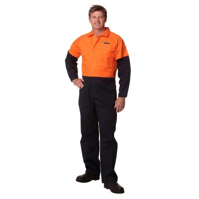 SW204 Coverall Branded High Vis Overalls (Regular)