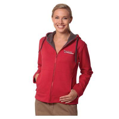 FL18 Ladies Bonded Polar Fleece Custom Zip Hoodies