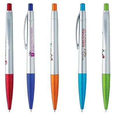 G55719 Flav Silver Colour Custom Bic Pens