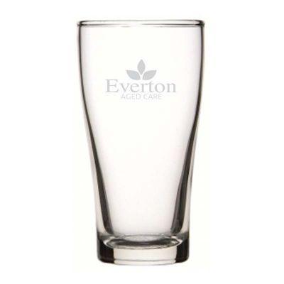 GLBG240012 285ml Crowntuff Conical Custom Beer Glasses