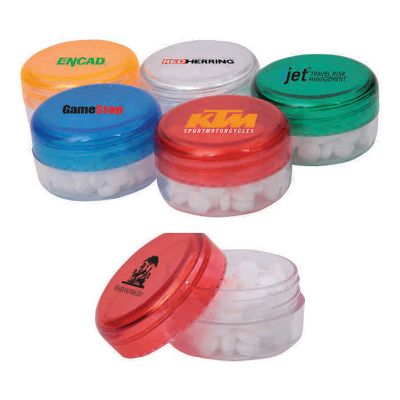 H670 Mini Screw-Top Logo Mints Jar (100 Mints)