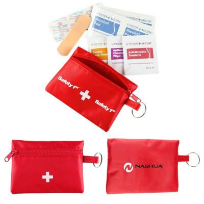 H680 22 Piece Printed First Aid Kits In Travel Bag