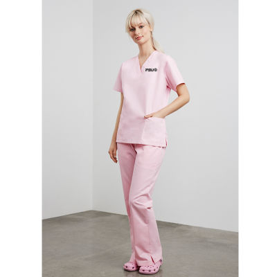 H10620 Ladies Classic Bootleg Branded Medical Pants