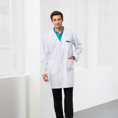 H132ML Unisex Classic Embroidered Lab Jackets