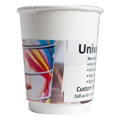 HC08-WR1 280ml Single Wall Unbranded Cardboard Coffee Cups With 80mm Lid - Digital Printed Wrap