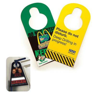 HCI107A Card Custom Door Hangers With Gloss Finish