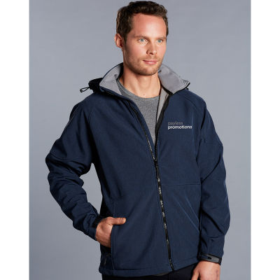 JK33 Aspen Embroidered Softshell Jackets With Detachable Hood