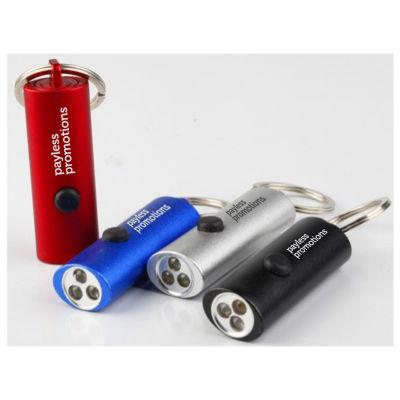 JTT006 3 Led Aluminium Personalised Torch Key Rings
